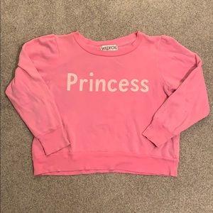 "WILDFOX ""Princess"" Cropped Sweatshirt"